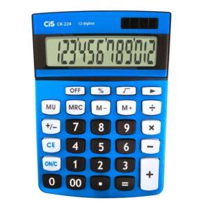 CALCULADORA CIS CK224 10X14X2,3CM 12DIG AZUL BATERIA SOLAR 16X11