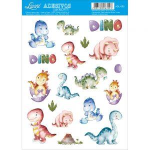 ADESIVO COM RECORTE LITOARTE DINO ADL005