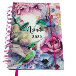 Agenda 2022 Pássaros Sortida Espiral Duplo Interponte 168Fls AG22019