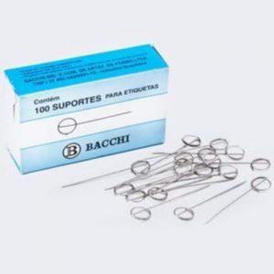 ALFINETE BACCHI SUPORTE PARA ETIQUETAS ARO SIMPLES 100UND