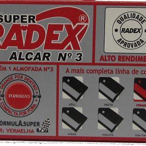 Almofada De Carimbo Radex Nº 3 Vermelho