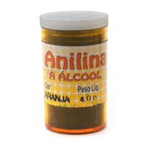 ANILINA A ALCOOL GLITTER LARANJA 04GRS
