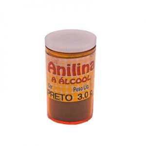 ANILINA A ALCOOL GLITTER PRETO 03GRS