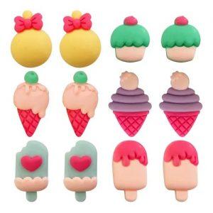 Aplique Charminhos Para Artesanato Candy 3D Make Mais C/ 12 Unidades 4116