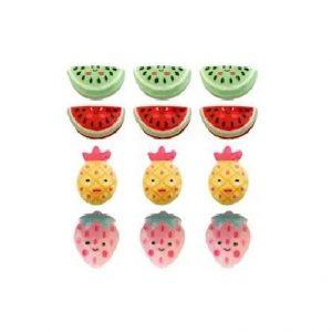Aplique Charminhos Para Artesanato Frutinhas 3D Make Mais C/ 12 Unidades 4110