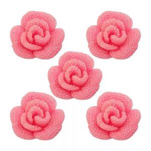 Aplique Charminhos Para Artesanato Rosa Luxo 3D Make Mais C/ 05 Unidades 4115