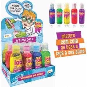 ATIVADOR COLORIDO PARA COLAS LAB SLIME 120ML