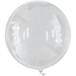 """Balão Bobo Ball Redondo Transparente 26"""" 66cm Make+ C/50 Unidades 8569"""