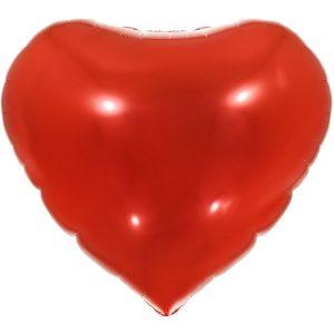 """Balão Metalizado 18"""" 45cm Coração Vermelho Make+ 8536"""