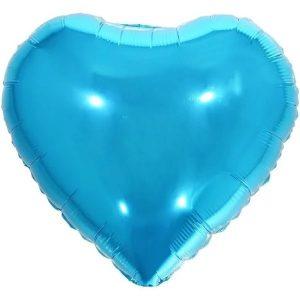 """Balão Metalizado Coração Azul 18"""" 45cm Make+ 8538"""