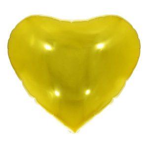 """Balão Metalizado Coração Dourado 36"""" 90cm Make+ 8541"""