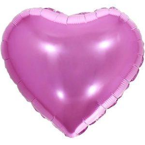 """Balão Metalizado Coração Pink 18"""" 45cm Make+ 8537"""