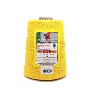 Barbante Piratininga Amarelo Ouro Nº 8 700grs 510mts 4/8NE