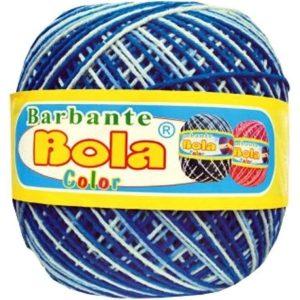 Barbante Piratininga Bola Color Azul Royal/Azul Bebê Nº 6 350grs 350mts 4/6NE