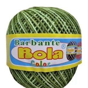 Barbante Piratininga Bola Color Verde Abacate/Verde Oliva Nº 6 350grs 350mts 4/6NE