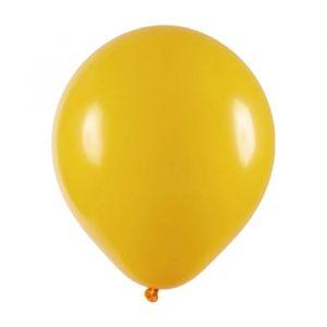 Bexiga Balão Amarelo Liso Número 6.5 - São Roque c/50 Unidades
