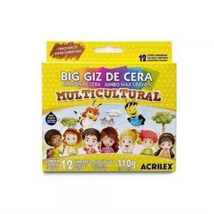 Big Giz de Cera Acrilex Multicultural c/ 12 Cores
