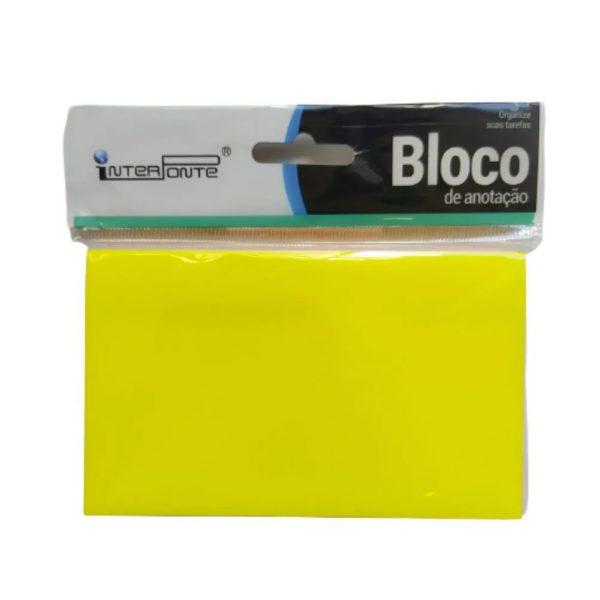Bloco Adesivo Interponte 76x100mm Neon 5 Cores 100 Folhas HA85404