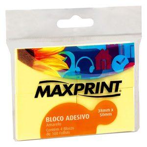BLOCO ADESIVO MAXPRINT 38X50 100FLS AMARELO 74986