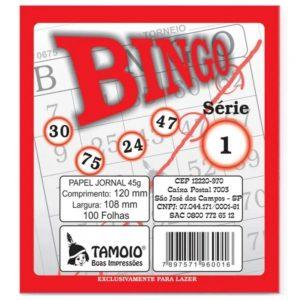 BLOCO BINGO JORNAL 100FLS TAMOIO 6001 AVULSO