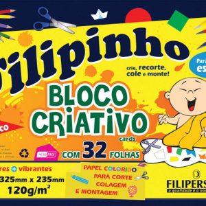 BLOCO CREATIVE FILIPERSON FILIPINHO COLOR 325X235MM 08 CORES 120GRS 32FLS 01655
