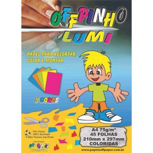 BLOCO CREATIVE LUMI OFF PAPER 75G A4 45FLS 00076