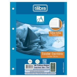 BLOCO FICHARIO BRANCO TILIBRA 96FLS 157813