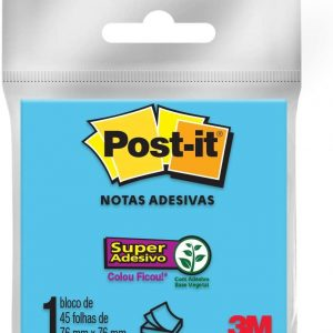 Bloco Post-it 76x76 Azul 45 folhas - 3M