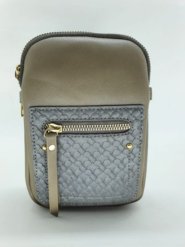 Bolsa Feminina Luxcel Gash Kaqui Pequena BG72157KA