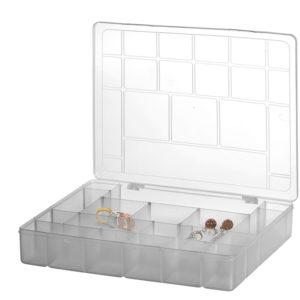 BOX ORGANIZADOR COM DIVISORIAS GRANDE PLASMONT CRISTAL 399