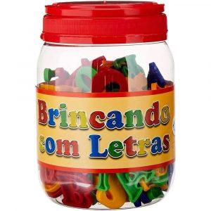 BRINQUEDO BRINCANDO COM LETRAS POTE 173 PECAS +4 ANOS PAIS E FILHOS 2802