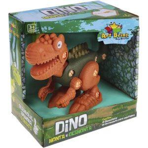 Brinquedo Dinossauro Monta e Desmonta com Ferramenta - Art Brink ZB486