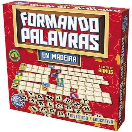BRINQUEDO FORMANDO PALAVRAS MADEIRA PAIS E FILHO +6 ANOS 2906