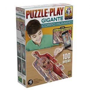 Brinquedo Grow Puzzle Play Gigante Corpo Humano 100 peças 03636