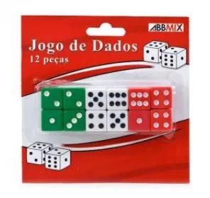 Brinquedo Jogo De Dados Pequeno C/12 Unidades Cartelado Gubly0613
