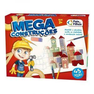 BRINQUEDO JOGO MEGA CONSTRUCOES 45 PECAS +3 ANOS PAIS E FILHOS 7394