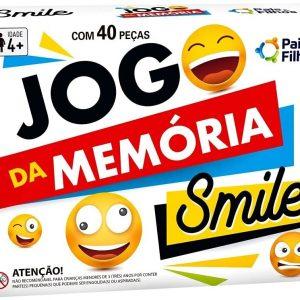 BRINQUEDO JOGO MEMORIA SMILE 40 PECAS +4 ANOS PAIS E FILHOS 7270