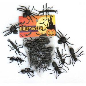 BRINQUEDO KIT HALLOWEEN ARANHAS 12UND BRASILFLEX 0916/40