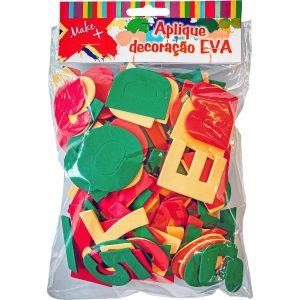Brinquedo Pedagógico Eva Recortado 04cm Consoantes + Vogais 148 Peças Make+ 880