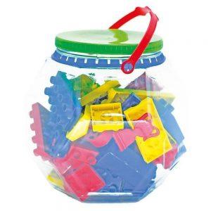 Brinquedo Pote Forme E Transforme 60 Peças - Maxi Toys
