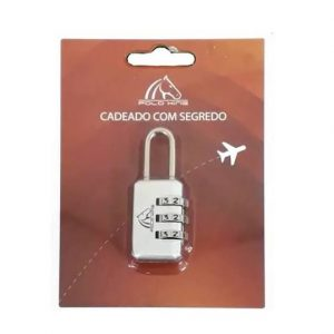 Cadeado com 3 segredos Prata Polo King CD005PR