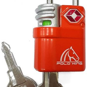 Cadeado com Chave Vermelho Polo King CD006TSAVM