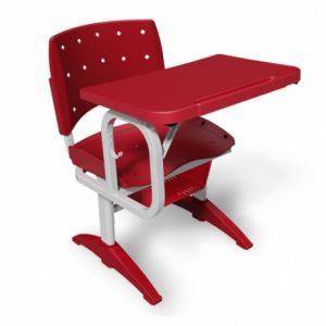 Cadeira Ergoplax Fixa Em Polipropileno Cereja Carteira Com Prancheta Fixa Plaxmetal