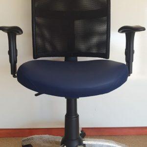 Cadeira Executiva Star Tela Azul Base Cromada com Braço Regulavel Sistema Backita Vianflex