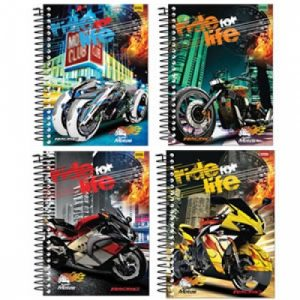 CADERNO 15X1 UNIVERSITARIO SUPER MOTOS SAO DOMINGOS 300FLS
