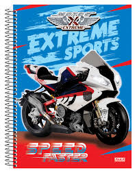 CADERNO 20X1 UNIVERSITARIO CD MOTOS 400FLS SAO DOMINGOS