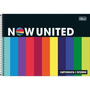 CADERNO CARTOGRAFIA ESPIRAL CAPA DURA NOW UNITED 80 FOLHAS - TILIBRA 319678