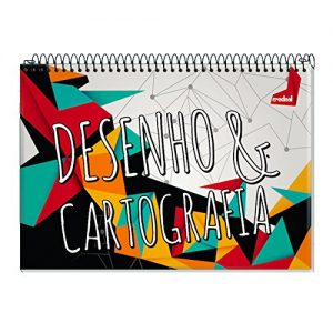 CADERNO CARTOGRAFIA ESPIRAL CD HAPPY 60FLS CREDEAL 104880