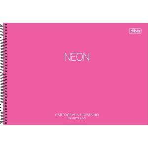 CADERNO CARTOGRAFIA ESPIRAL CD NEON SEM SEDA MILIMETRADO 80FLS TILIBRA 232815