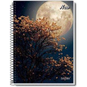Caderno Espiral 1/4 New Capa Flexível 96Fls Pauta Branca